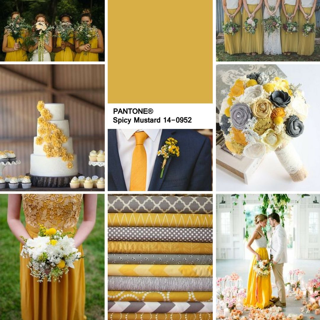 April Wedding Colors: SPICY MUSTARD - Perfect For An Autumn Wedding
