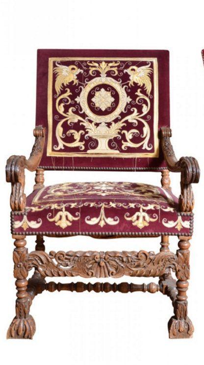 Belle Paire De Grands Fauteuils Louis XIV ème Siècle Chairs - Fauteuil louis xiv