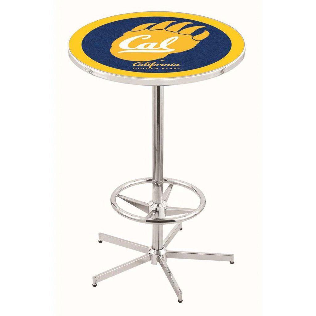 Chrome Cal Golden Bears Bar Table