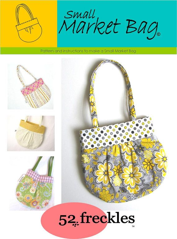 Sewing PATTERN - Small Market Bag .pdf instant download - stash ...