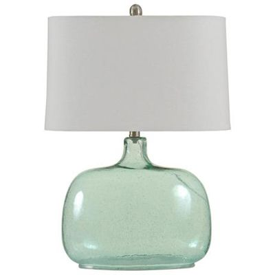 Brentford seeded teal glass table lamp lamp love pinterest add some modern style to your decor with this contemporary brentford seeded teal glass table lamp the oval rounded base features seeded teal glass that aloadofball Image collections