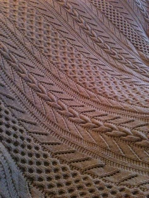 Free Knitting Pattern For Cable And Lace Afghan Ann V