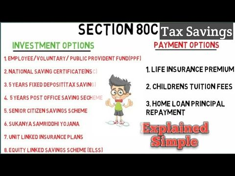 Wealth Creation Best Investments Tax Savings Section 80c Explain Best Investments Savings And Investment Investing