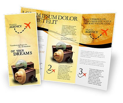 Double Sided Tri Fold Travel Brochure Template Httpwww