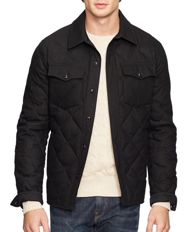 Polo Ralph Lauren Quilted Officer's Jacket | clothes | Pinterest ... : quilted mens jacket outerwear - Adamdwight.com