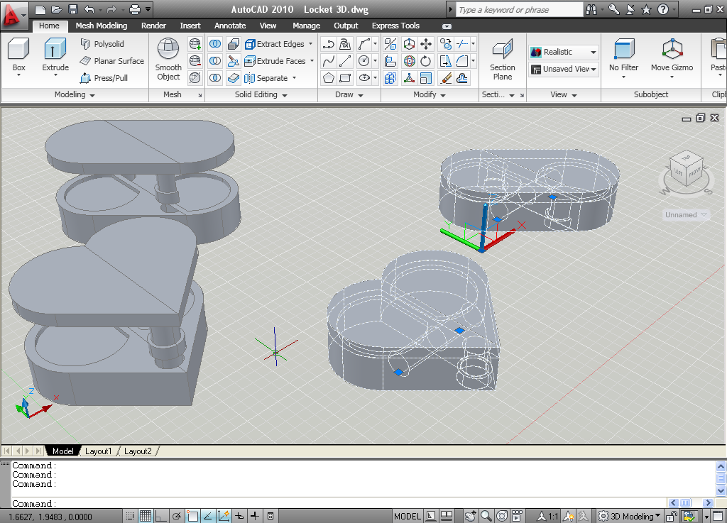 how to draw mesh objects in autocad 3d