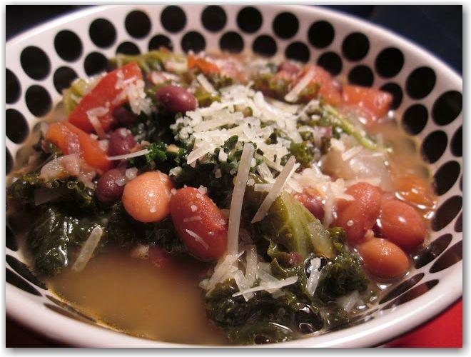 bean and kale soup! - @agirlandhermutt