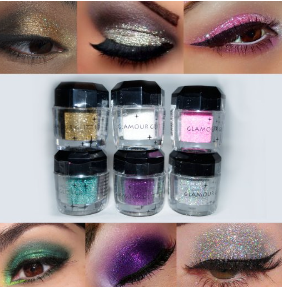 Glitter Eyeshadow ETEREAUTY 4 Colors Glitter Powder Loose