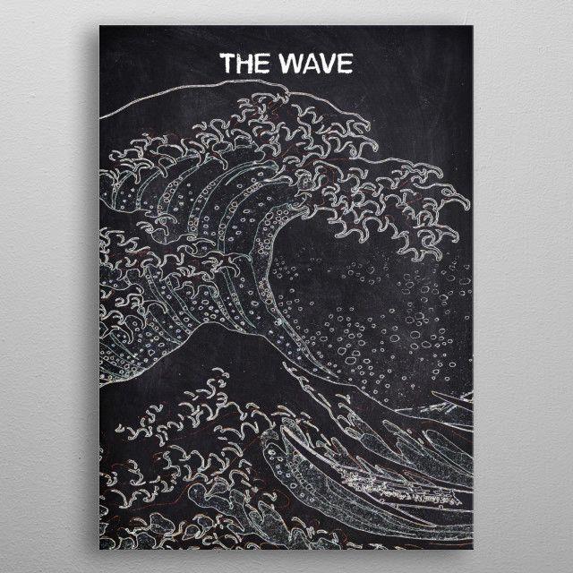 THE WAVE by FARKI15 DESIGN | metal posters - Displate | Displate thumbnail