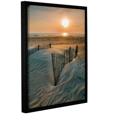 "ArtWall Sunrise Over Hatteras by Steve Ainsworth Framed Photographic Print on Wrapped Canvas Size: 8"" H 10"" W"