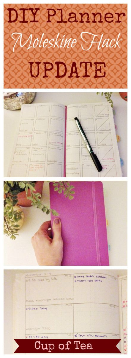 A DIY Planner using a Moleskine Notebook!
