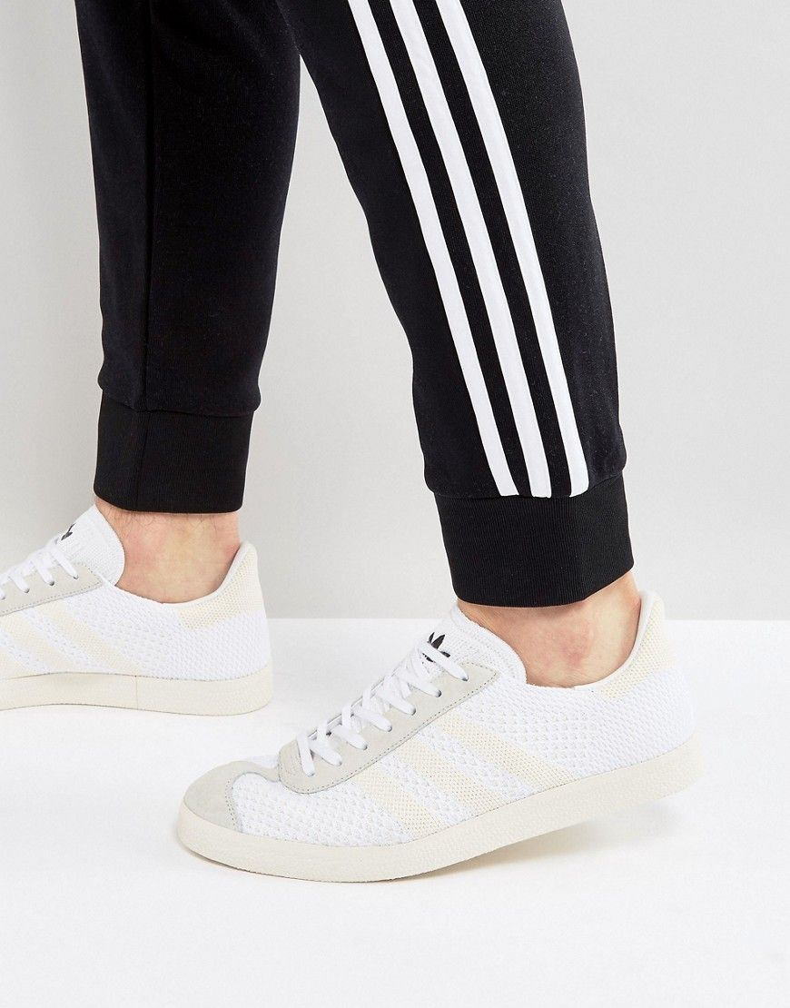 uk availability 162b4 715c2 ADIDAS ORIGINALS GAZELLE PRIMEKNIT SNEAKERS IN WHITE BZ0005 - WHITE.  adidasoriginals shoes