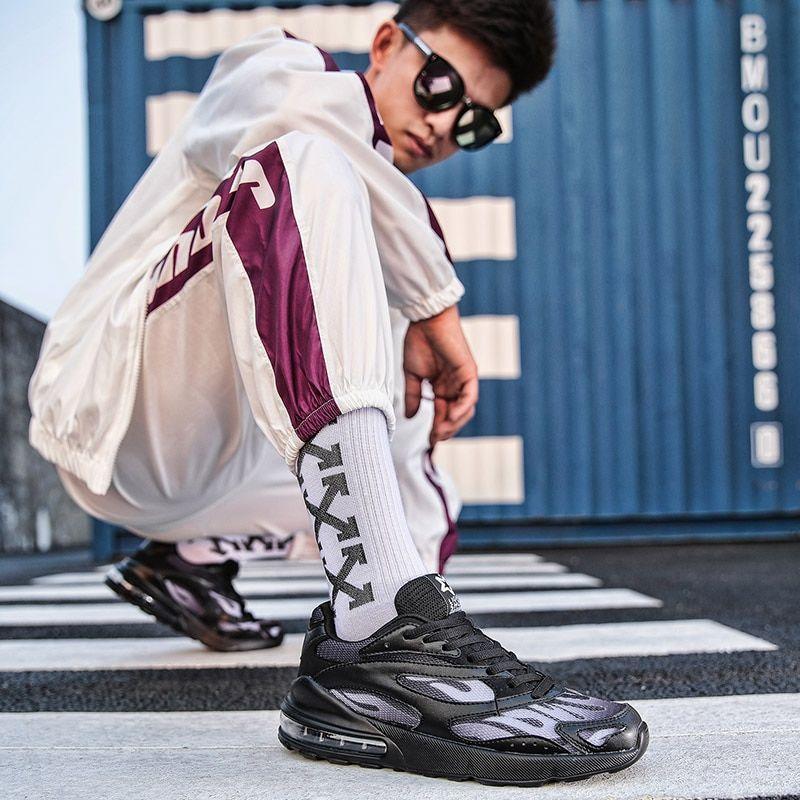 Mens Streetwear Air Cushion Breathable Running Shoes