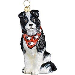 Border Collie Christmas Ornaments Glass Christmas Ornaments