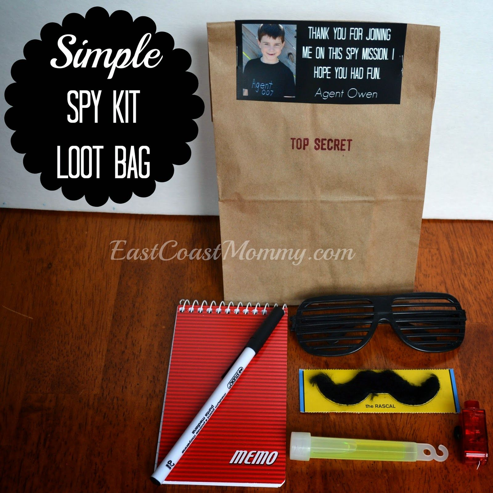 First Birthday Boy Party Loot Bag Single: Spy Party - Loot Bags