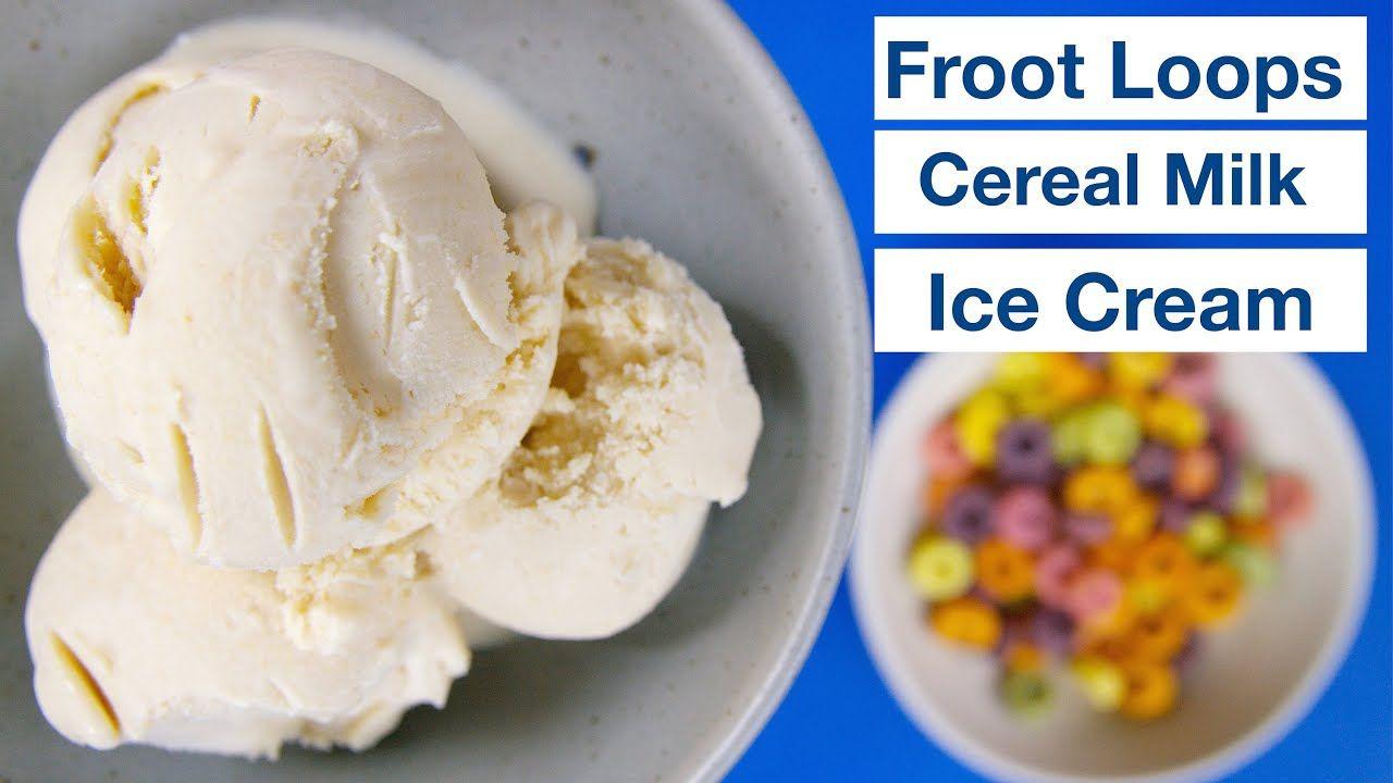 Froot loops cereal milk ice cream glen friends