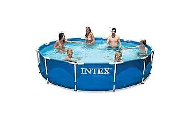 Above Ground Swimming Pool Intex Metal Frame Set 12ft X 30in Filter Pump Round Best Above Ground Pool Above Ground Swimming Pools Pool
