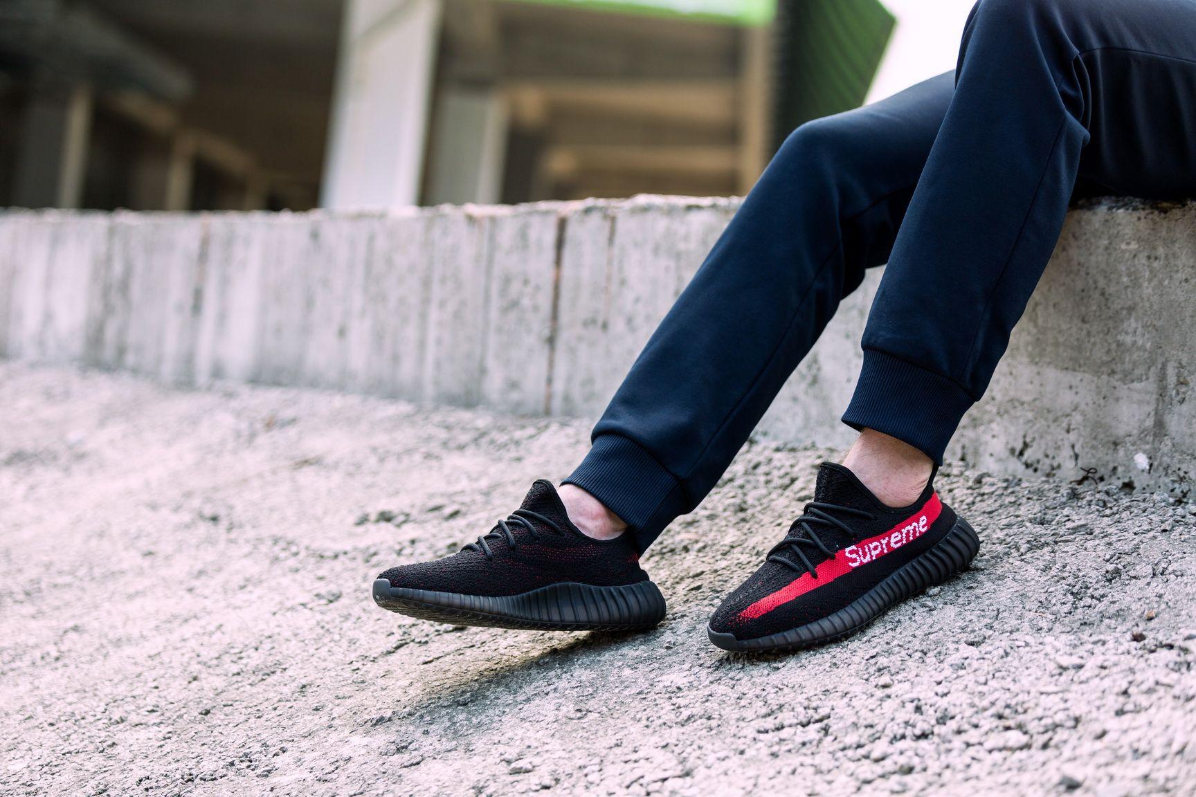 9559f9087 Supreme x Adidas Yeezy Boost 350V2 Black Real Boost 6