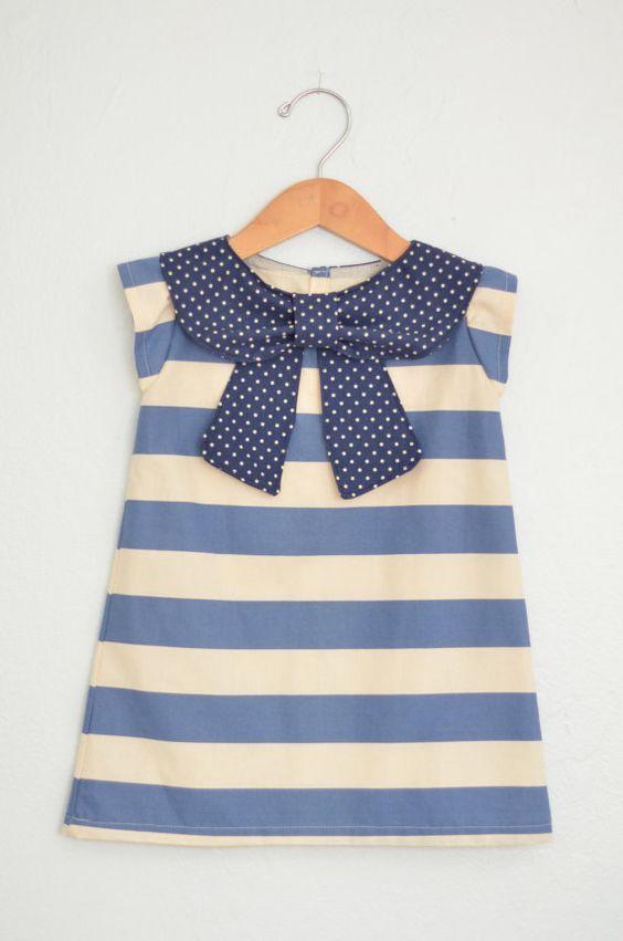 hermosa blusa, camiseta para niña.....el diseño a rayas y el cuello ...