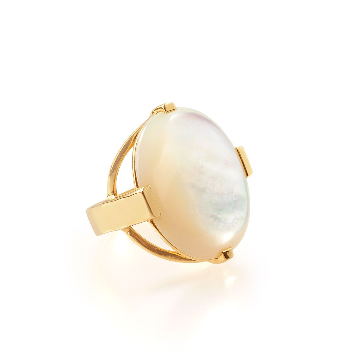 Ippolita Rock Candy Gelato 18k Mother-of-Pearl Ring, Size 6