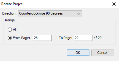 Screenshot Of The Rotate Pages Dialog Box In Pdf Studio 6 Pro Windows 10 Taken On 30 June 2016 Screenshots Windows 10 Computer