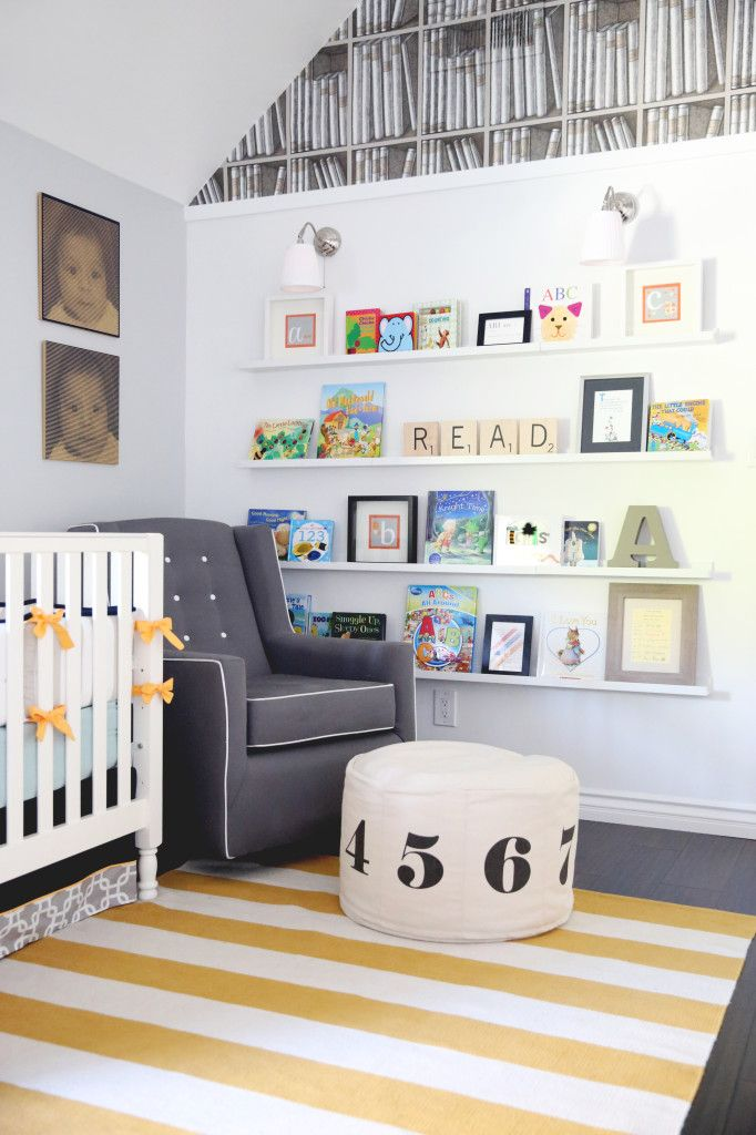Library Nursery Modern Library Themed And