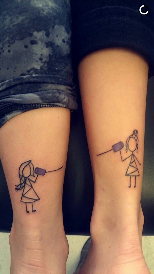 Friend Tattoos – Me and the wifey\'s long distance friendship tattoos ...