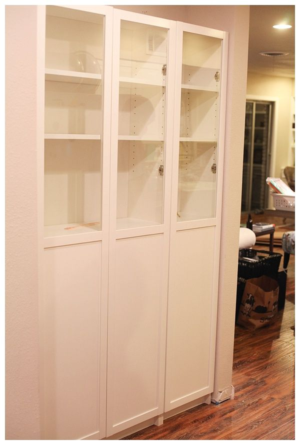Ikea Hack Billy Bookcase As Pantry Storage: Easy DIY Freestanding Pantry With Doors From A Billy