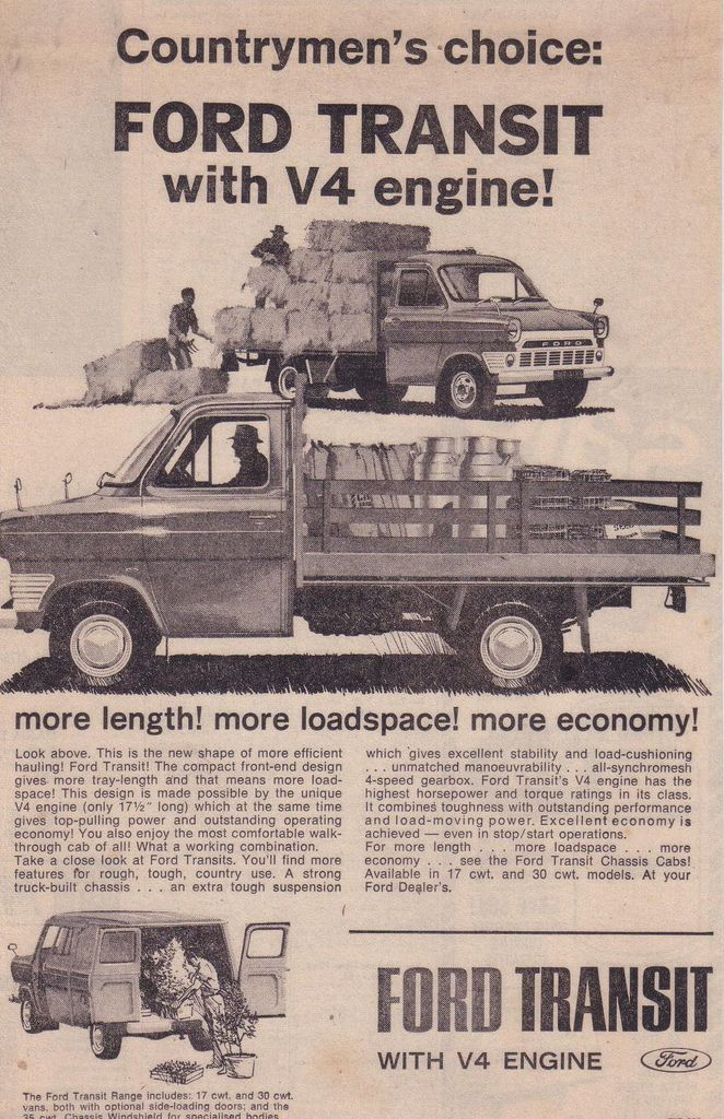 Ford Transit Mk1 Cab Chassis Utes Panel Van Ad Ford Transit