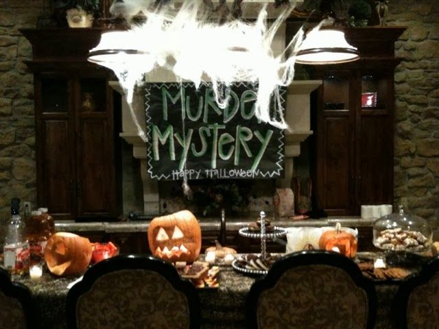 Two great games at the end would be perfect for an adult or teen - halloween party ideas for teenagers
