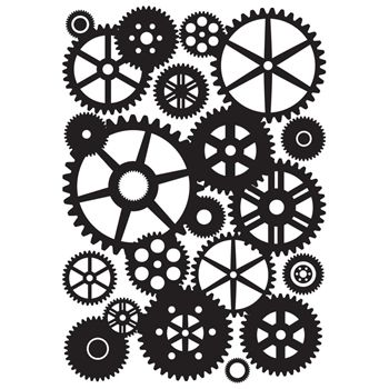 Kaisercraft COGS Embossing Folder 4x6 Inches EF219