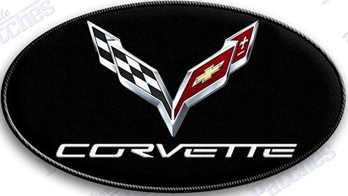 2 CHEVROLET CORVETTE RACING FLAGS Embroidered Iron Or Sewn On Patches Free Ship