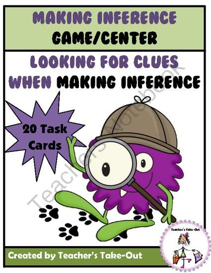 Making Inference Center/Game from Teachers Take Out on TeachersNotebook.com -  (13 pages)  - Making Inference Center/Game $