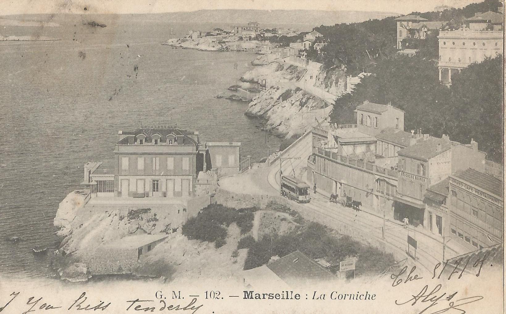 La Corniche Marseille, Photos anciennes, Photos