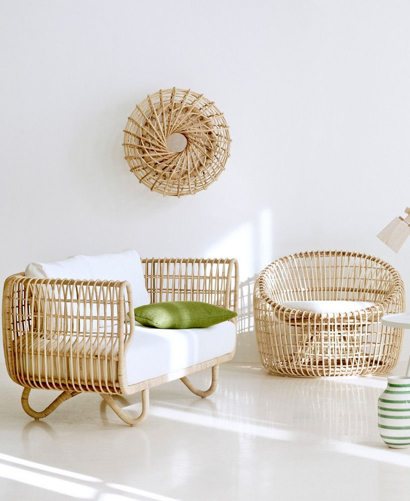 Rattan armchair nest lounge by cane line design foersom hiort lorenzen caneline