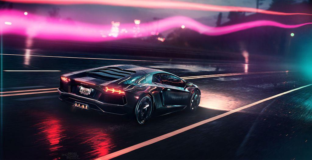 Neon Demon Lamborghini Aventador Wallpaper Lamborghini Aventador Dream Cars Lamborghini
