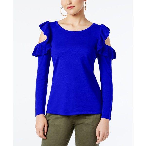 c07ca2faaa3b4 Inc International Concepts Cold-Shoulder Sweater