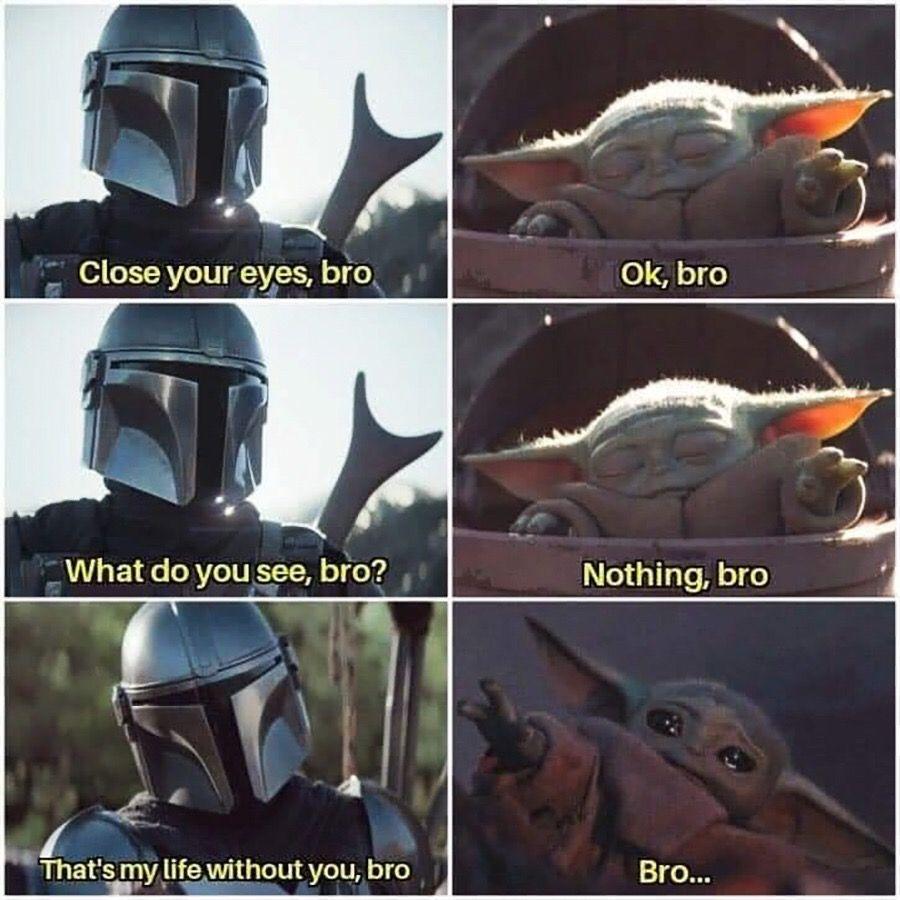 Mandalorian Babyoda Starwars Humor Joke Bro Funny Star Wars Memes Star Wars Jokes Yoda Meme