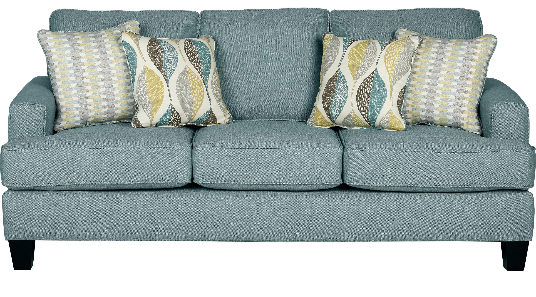 Sofas Rooms To Go Cypress Gardens Blue Sofa 10126604 Blue