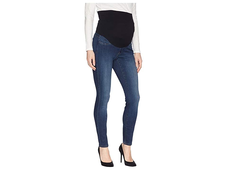 NYDJ Skinny Maternity in Big Sur Big Sur Womens Jeans Never sacrifice style when you adorn this fashionable NYDJ Skinny Maternity Jean Slim skinny fit jean hits at an ank...
