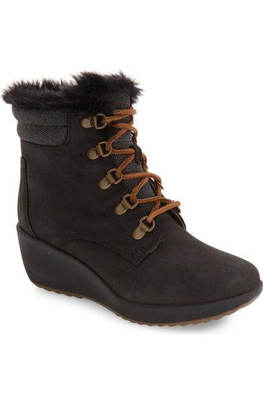 Sperry Luca Waterproof Faux Fur Wedge Boot (Women) available at #Nordstrom