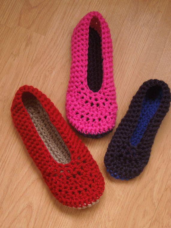 Ballet Flats Crochet Pattern House Slippers Women House Shoes