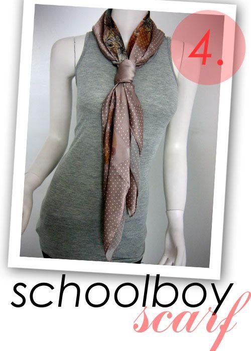 How to tie a school boy