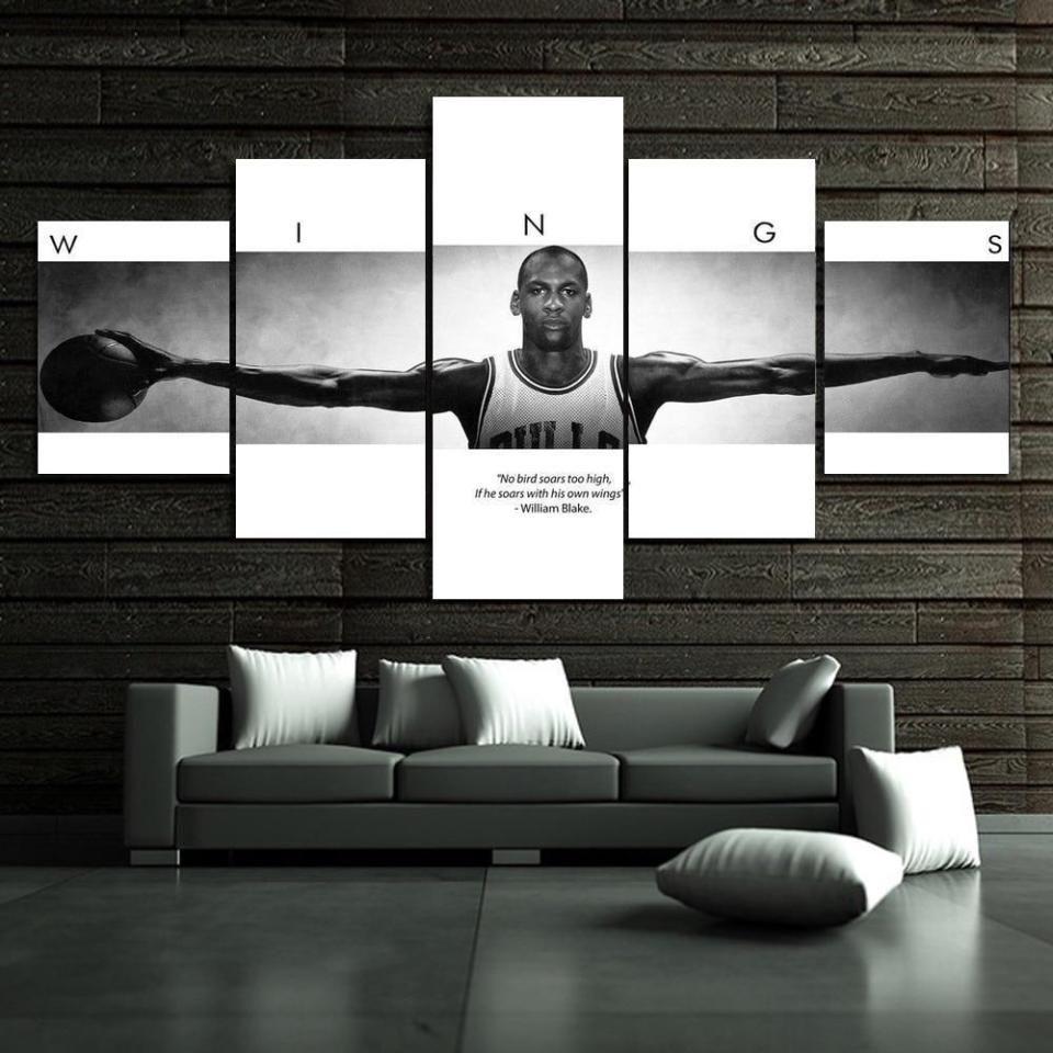 Michael Jordan Wings Autographed Poster