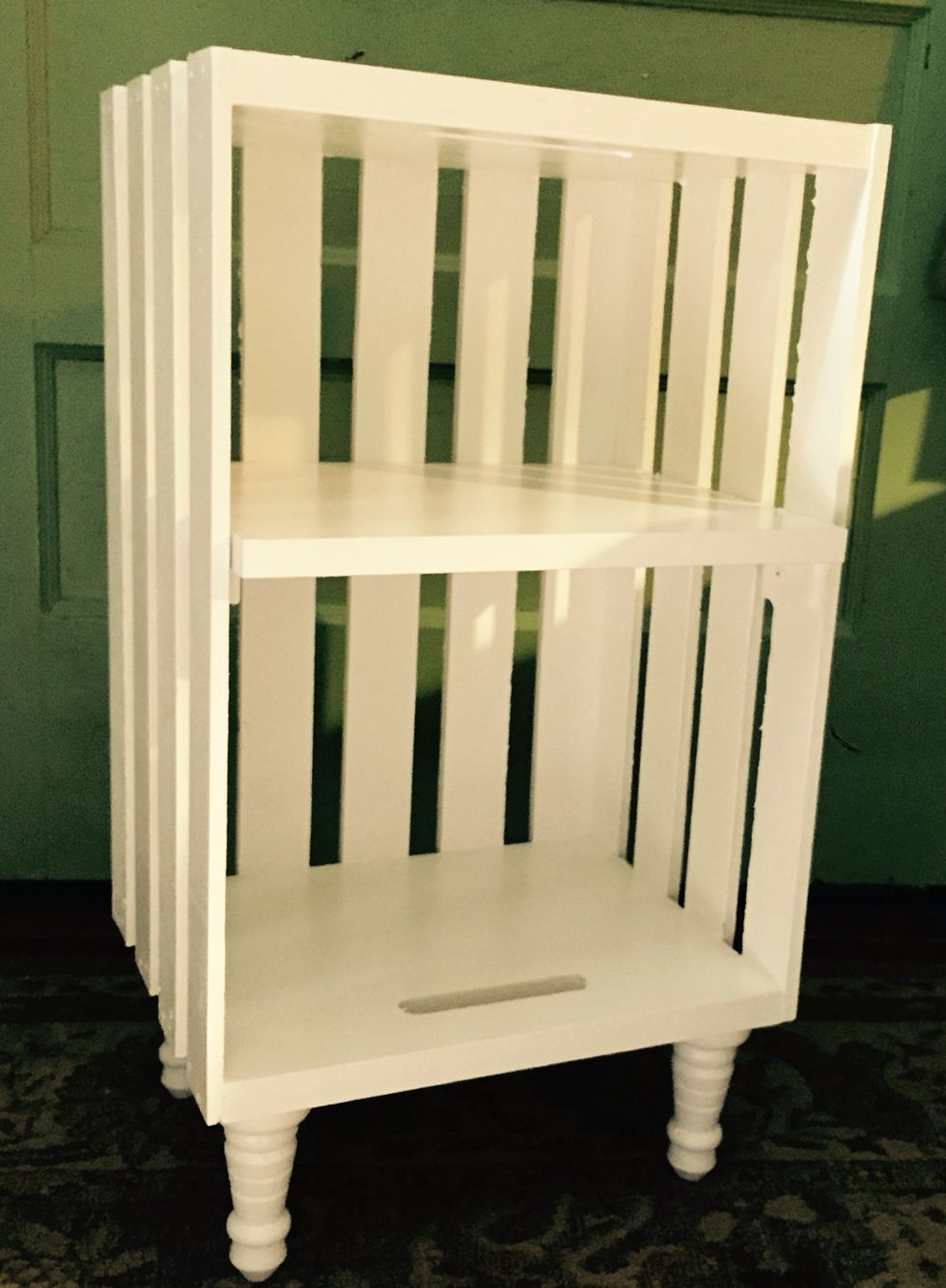 Pinterest Win Newly Constructed Crate Based Bedside Table For The Kid S Bedroom Crate Furniture Diy Furniture Wood Crates