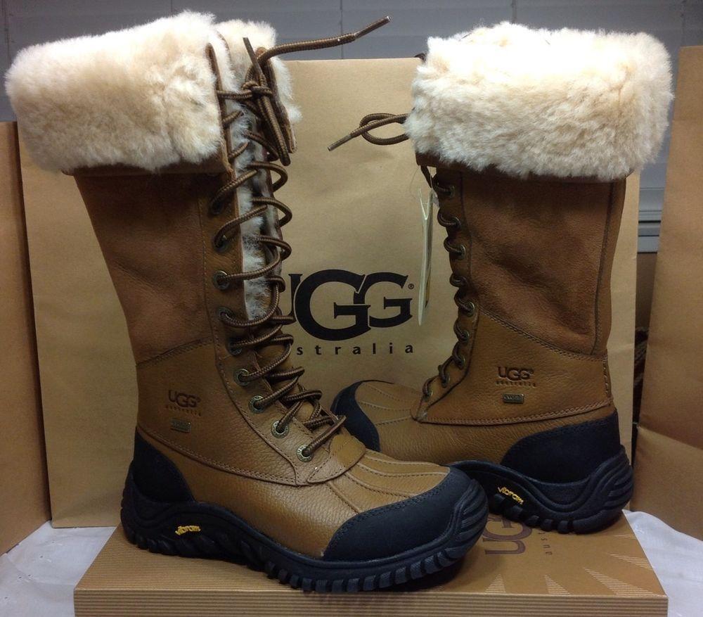 Ugg Australia Adirondack Chestnut Lace Up Tall Winter