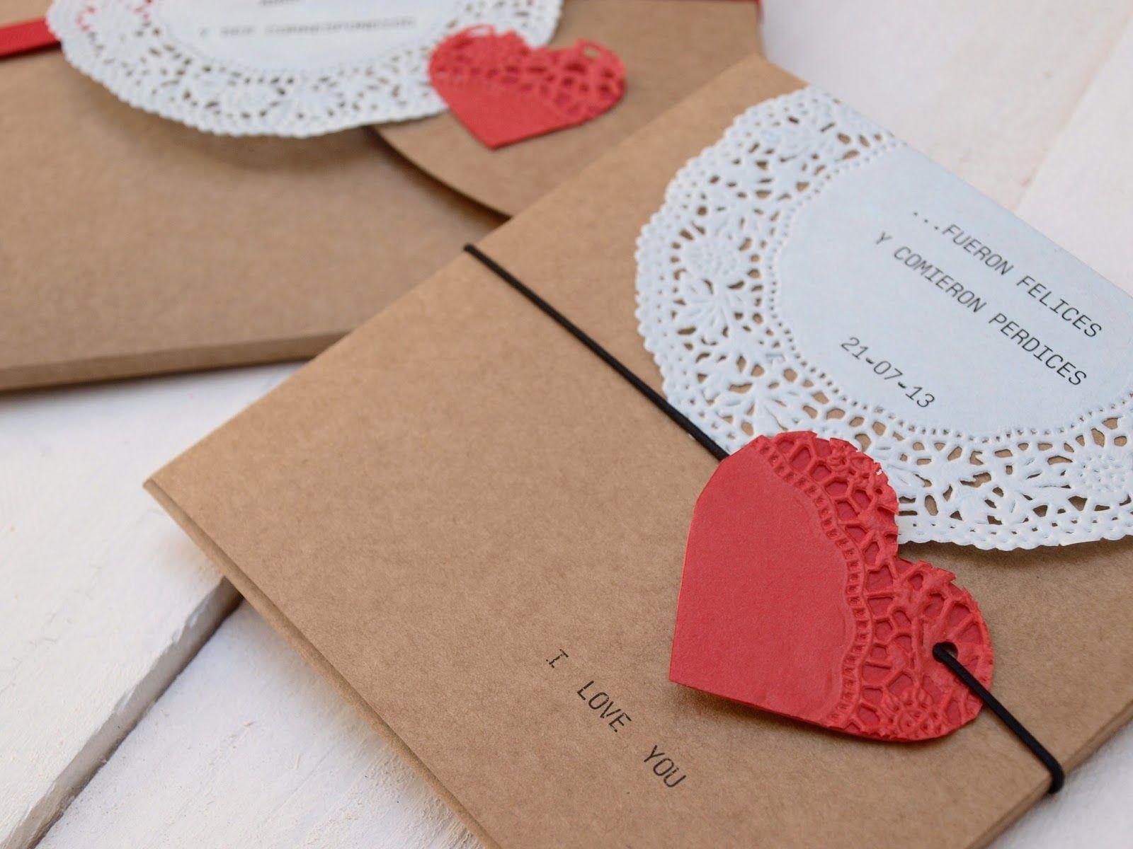 Invitaciones con blondas …   Invitaciones de boda, fiestas ...