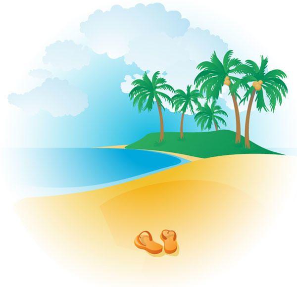 free tropical beach vector tropical beaches clip art free and rh pinterest com au tropical beach background clipart