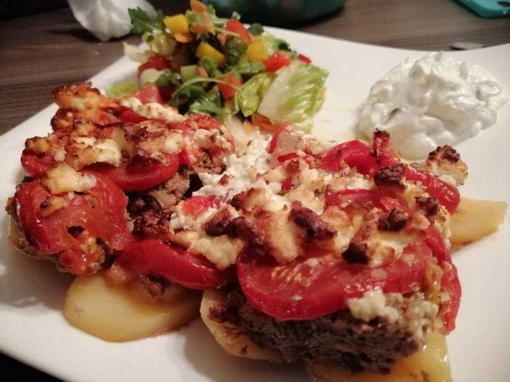 Photo of Arabic hack potato and tomato casserole-Arabischer Hack-Kart…