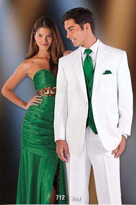 MENS WEDDING IVORY GREEN DIAMOND DRESS SUIT WAISTCOAT
